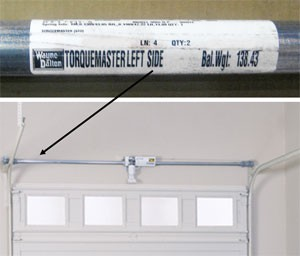 7 Foot Door Height Wayne Dalton Garage Door TorqueMaster Plus Replacement Springs Double Spring 110-119 Door Weight